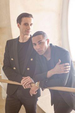 Sébastien Bertaud com Olivier Rousteing// foto: Luc Braquet para Vogue UK